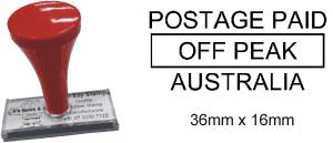 Postage Paid Off Peak Australia (Hand Stamp)